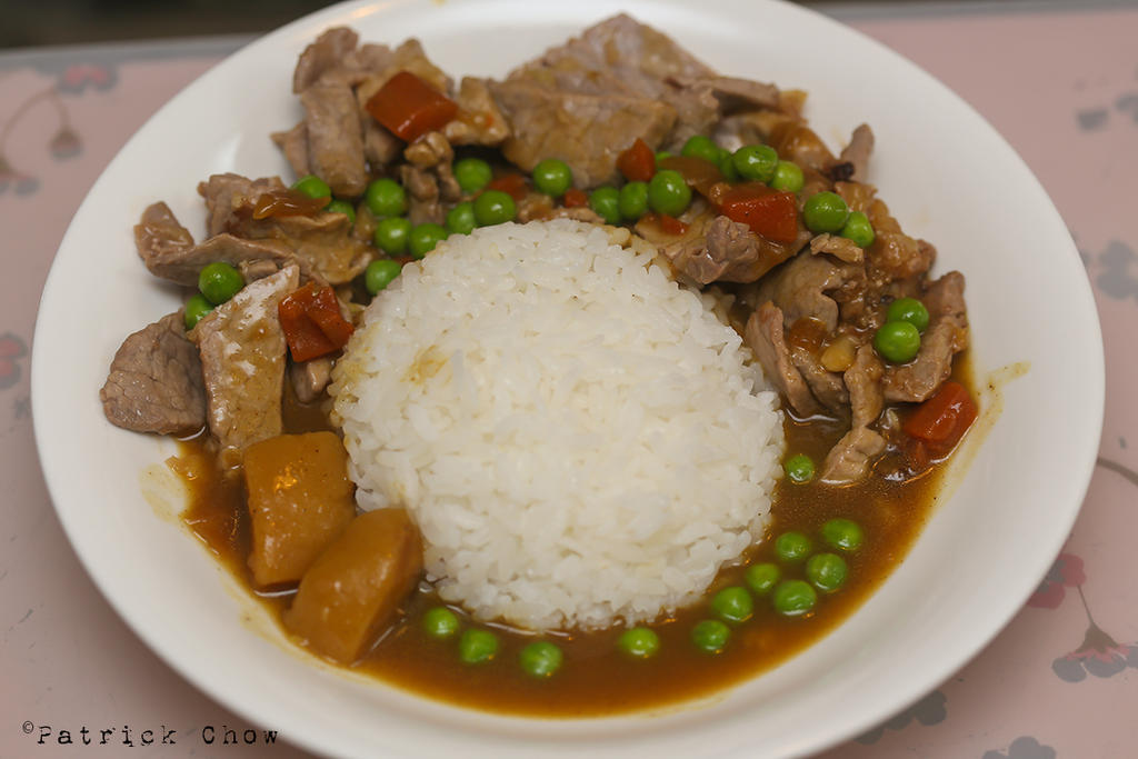 Beef stew with rice by patchow