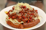 Beef sausage spaghetti