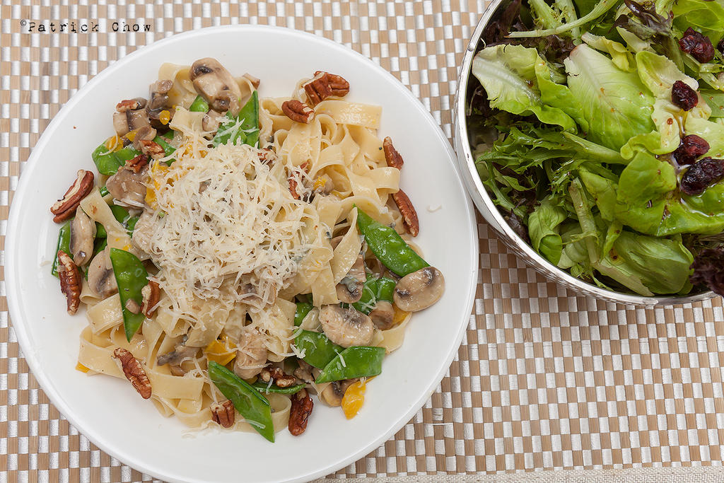 Healthy pappardelle lunch by patchow