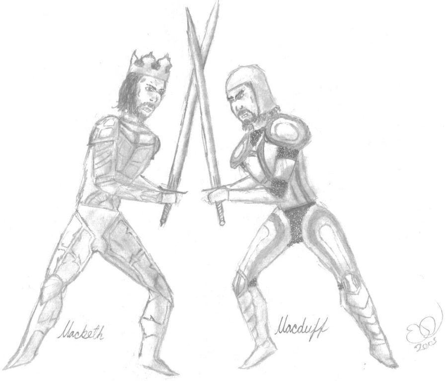 Macduff Macbeth Foil Macbeth And Macduff by