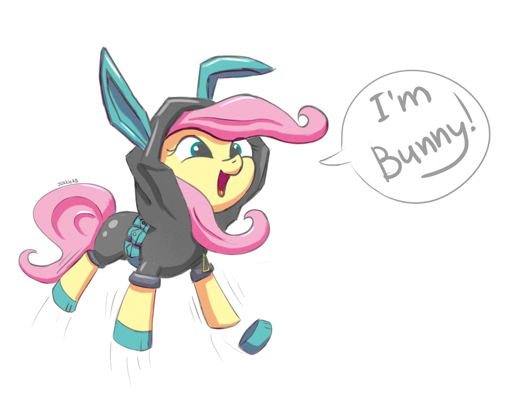 Another silly Fluttershy by JunkieKB