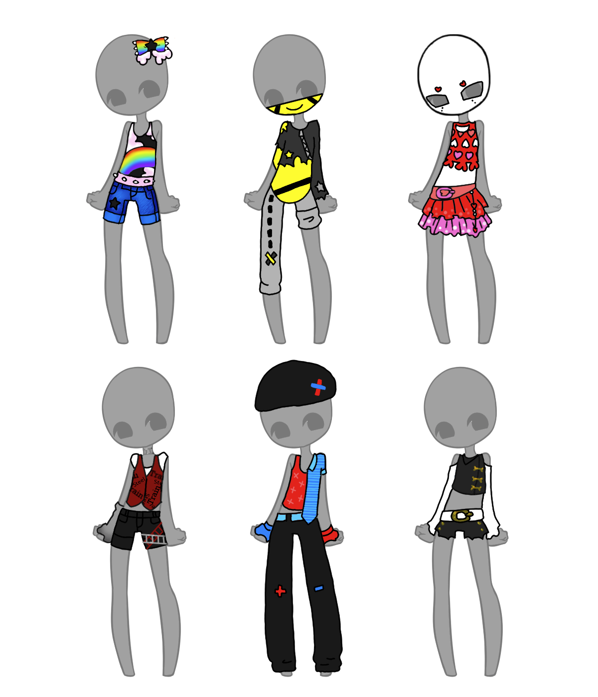 Outfit Adopts (1/6 OPEN) by Artistic-Mii-Adopts