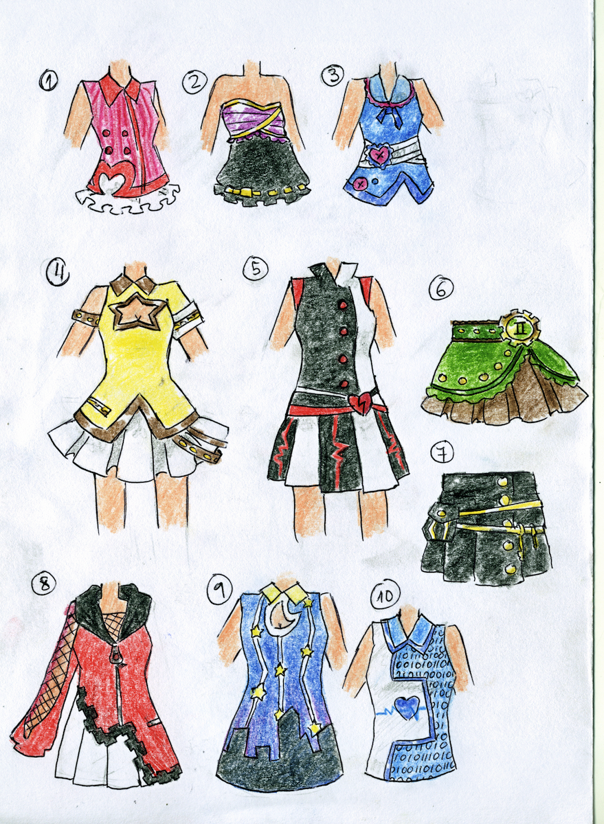Outfit Adopts (1/10 OPEN) by Artistic-Mii-Adopts