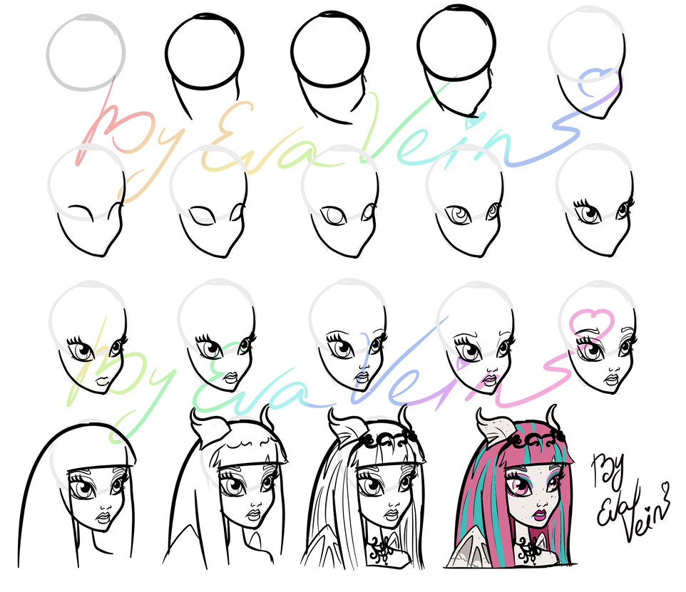 How To Draw Eyes Drawing Lesson From Me 3(monster High)~ Evavein By  Evavein Drawing Lesson From