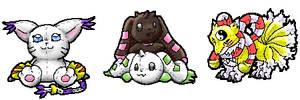 Digimon Plushies