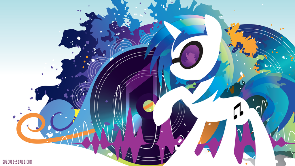 Vinyl Scratch Silhouette Wall by SpaceKitty