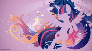 Princess Twilight Silhouette Wall