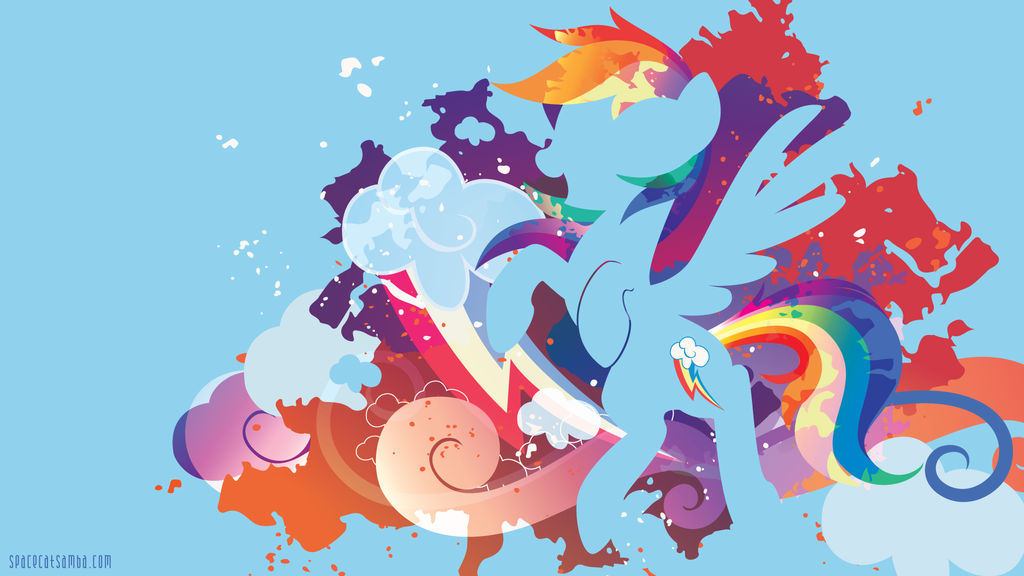 Rainbow Dash Silhouette Wall by SpaceKitty