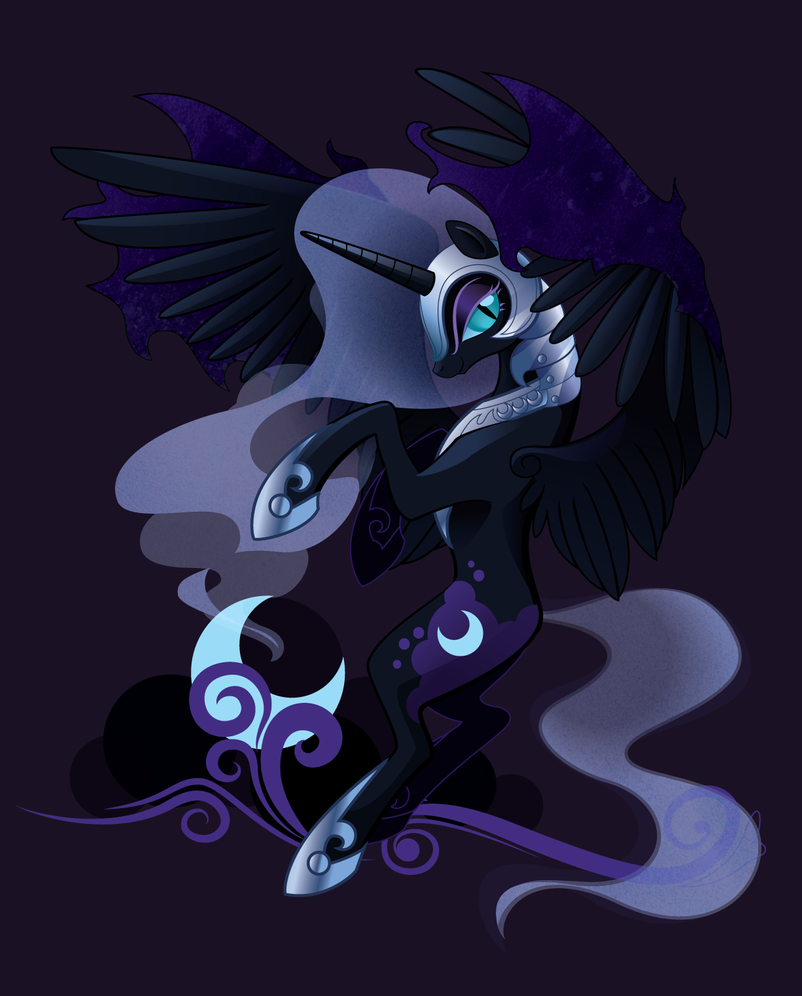 Nightmare Moon by SambaNeko