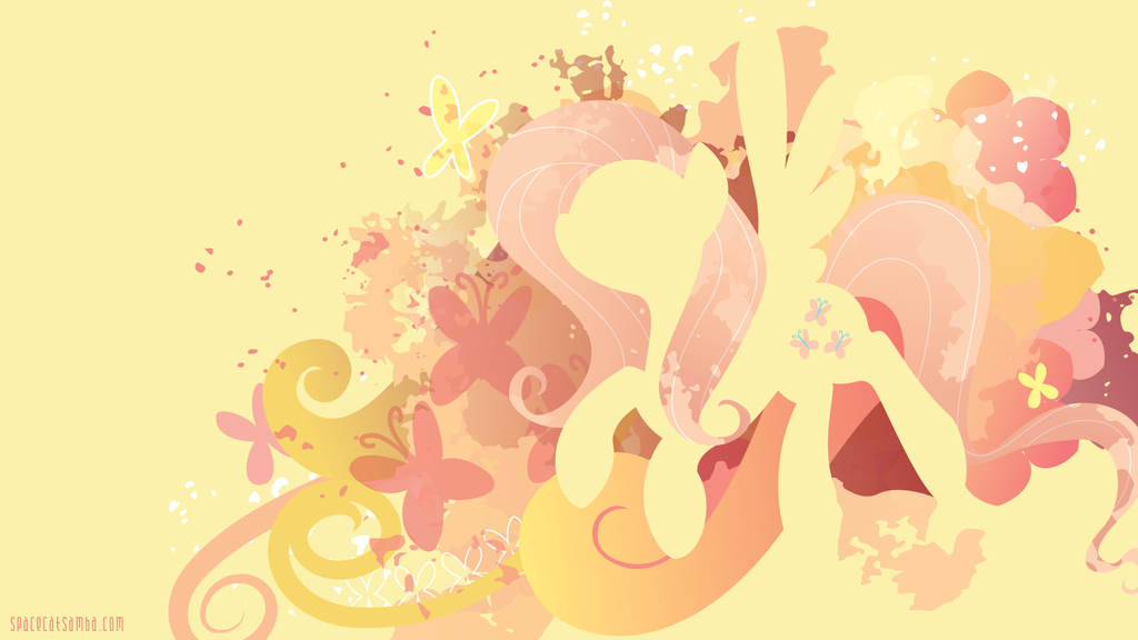 Fluttershy Silhouette Wall by SpaceKitty