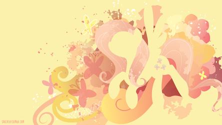 Fluttershy Silhouette Wall by SambaNeko