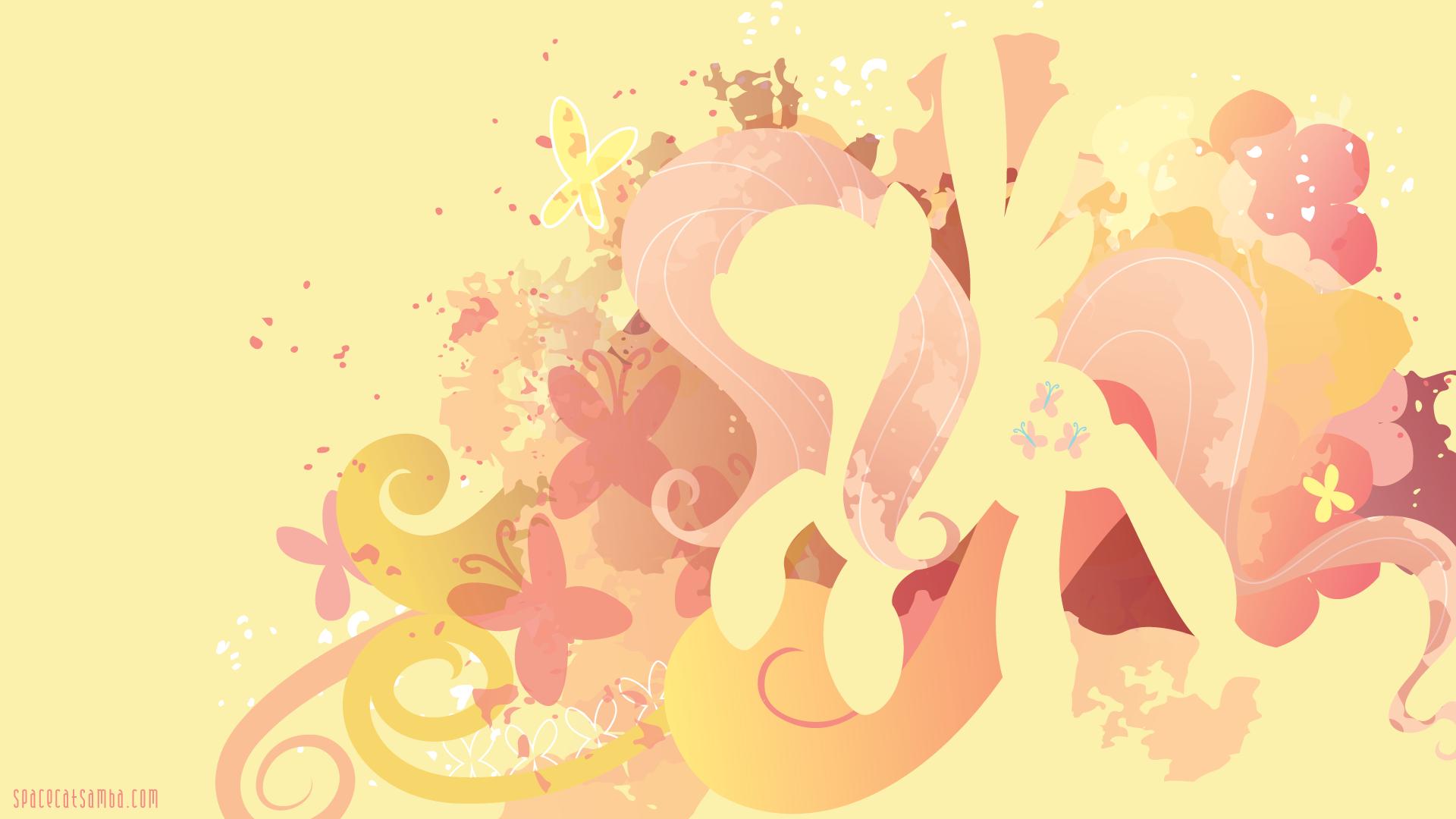 Fluttershy Silhouette Wall by SambaNeko on DeviantArt