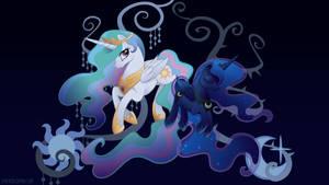 Harmony: Celestia and Luna by SambaNeko