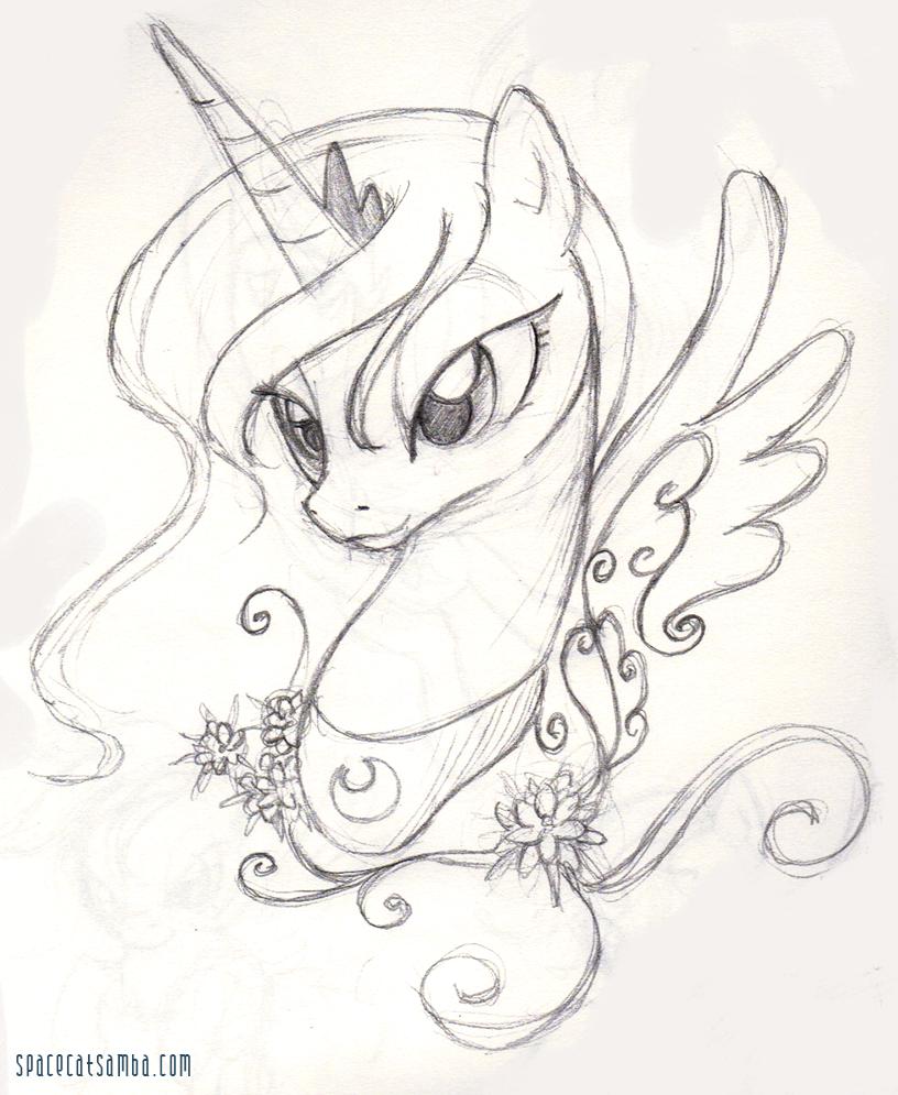 Luna Sketch by SpaceKitty
