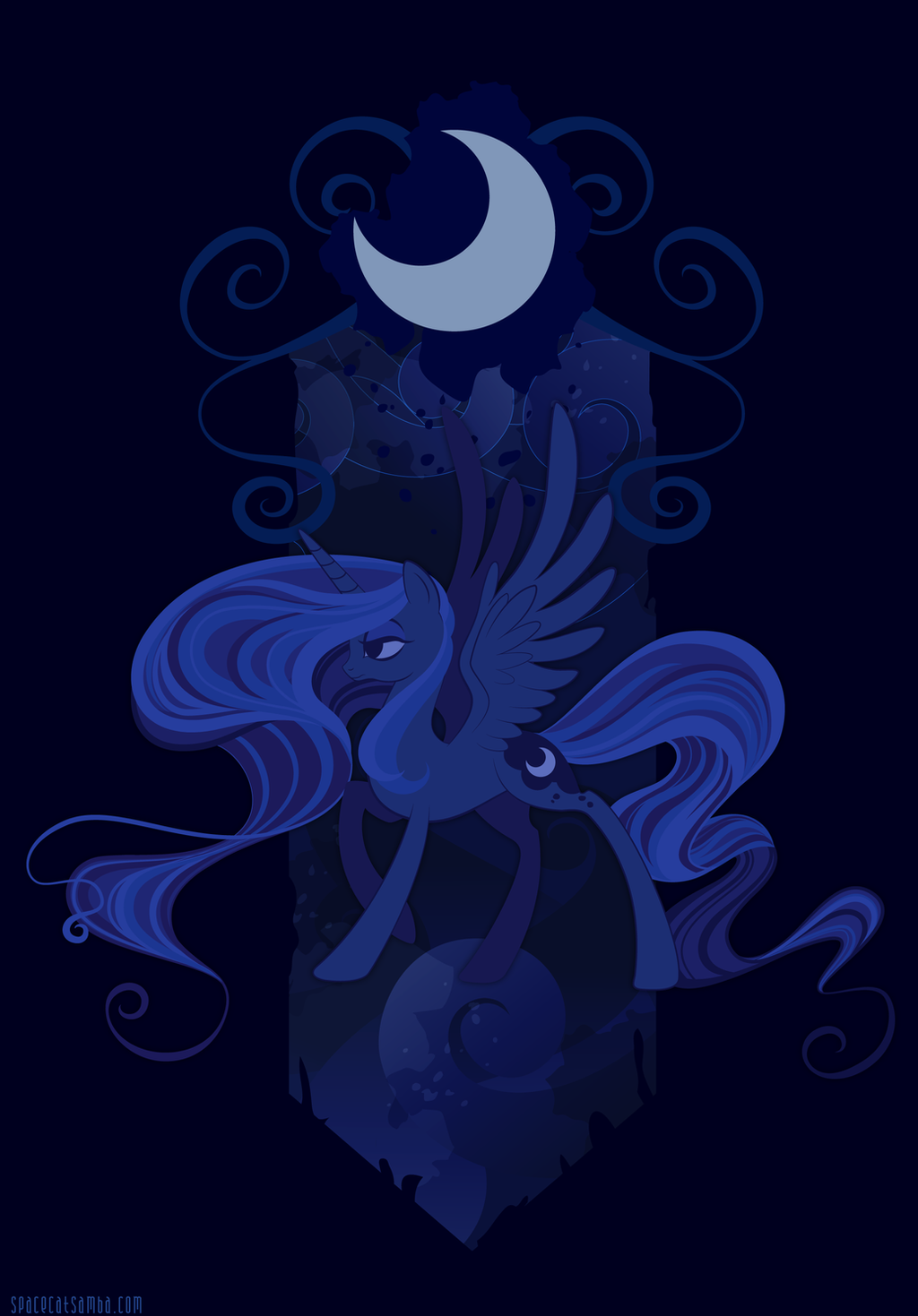 Lunar Tapestry by SpaceKitty