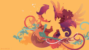 Scootaloo Silhouette Wall