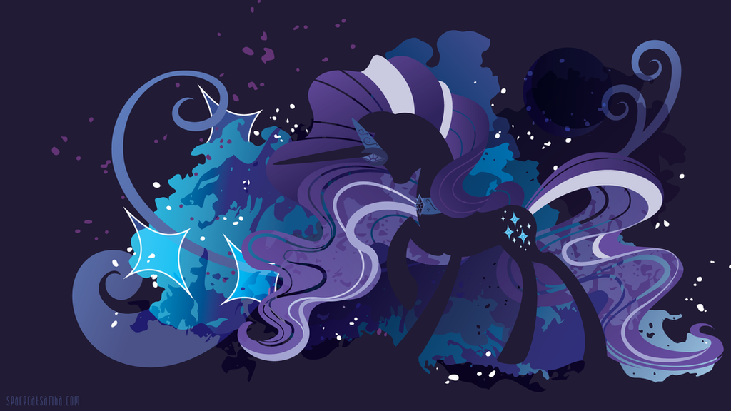 Nightmare Rarity Silhouette Wall by SpaceKitty