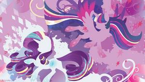 Rainbow Power: Twilight Sparkle and Rarity by SambaNeko