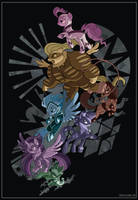 Power Ponies by SambaNeko