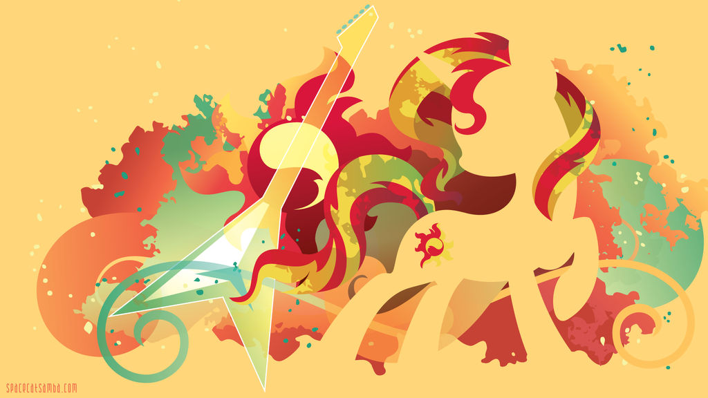 Sunset Shimmer Silhouette Wall