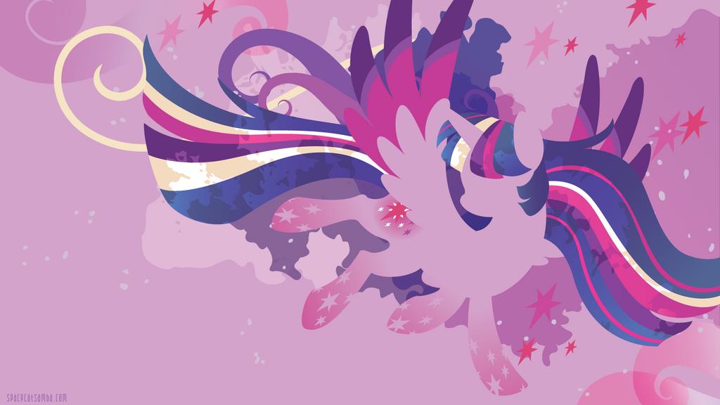 Rainbow Power Twilight Silhouette Wall By SambaNeko