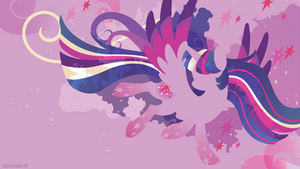 Rainbow Power Twilight Silhouette Wall