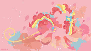 Rainbow Power Pinkie Pie Silhouette Wall