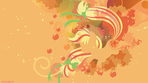 Rainbow Power Applejack Silhouette Wall