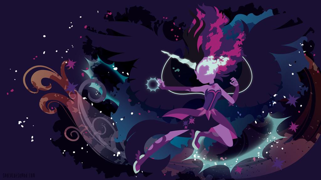 Midnight Sparkle Silhouette Wall by SambaNeko
