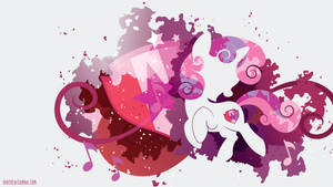 Sweetie Belle Cutie Marked Silhouette Wall