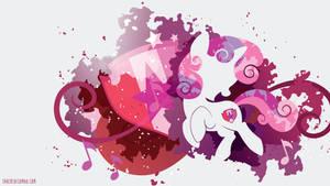 Sweetie Belle Cutie Marked Silhouette Wall