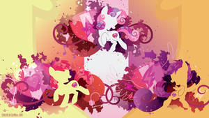 Cutie Mark Crusaders Cutie Marked Silhouette Wall
