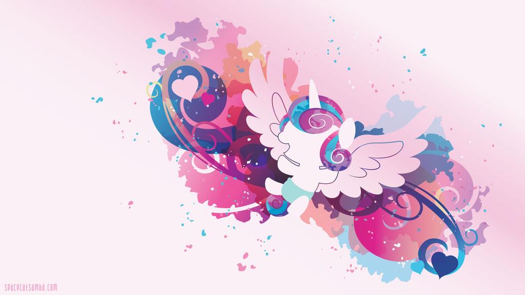 Flurry Heart Silhouette Wall by SambaNeko