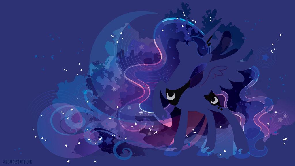Princess Luna Silhouette Wall - Blue Edition