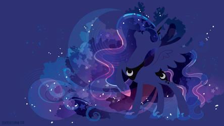 Princess Luna Silhouette Wall - Blue Edition by SambaNeko