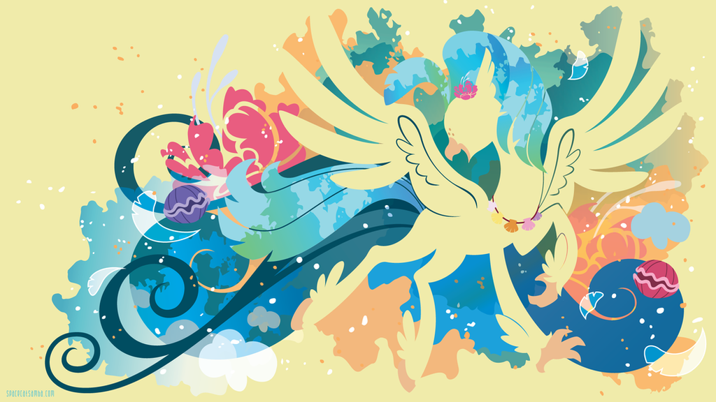 Princess Skystar Hippogriff Silhouette Wall by SambaNeko