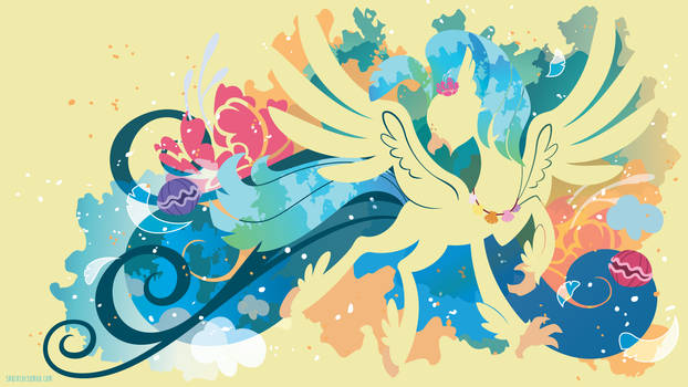 Princess Skystar Hippogriff Silhouette Wall