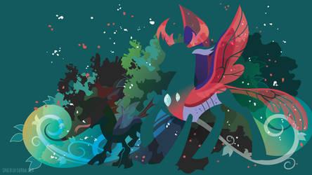 Prince Pharynx Silhouette Wall by SambaNeko