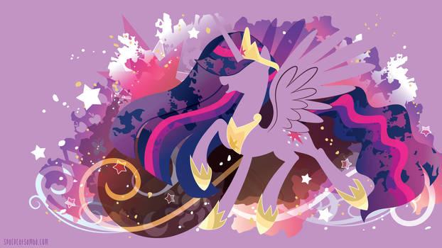 Princess of Equestria Twilight Silhouette Wall