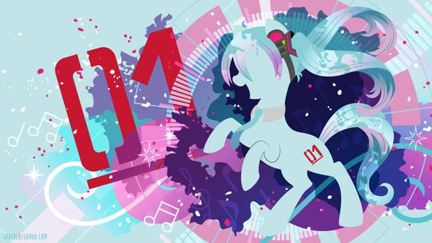 Hatsune Miku Pony Silhouette Wall