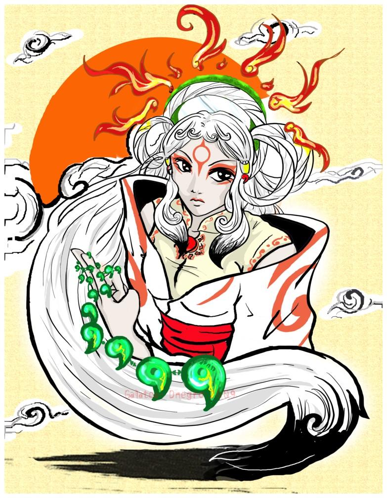 Okami - Amaterasu by Galatea-DNegro