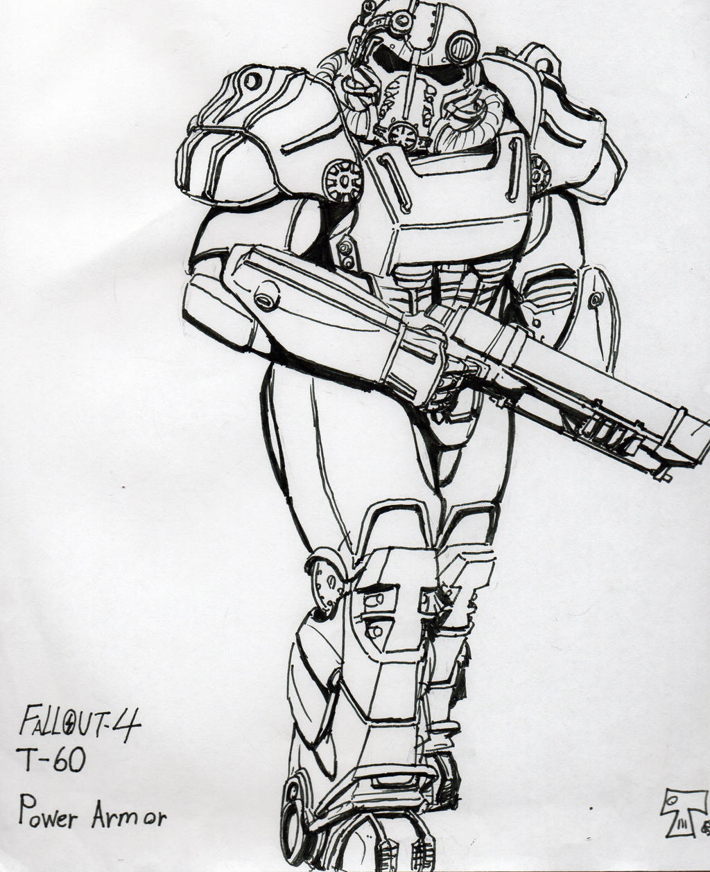 FALLOUT4 T60 Power Amor by TheRenegadeSgt on DeviantArt