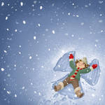 Snow angel by Sabinerich