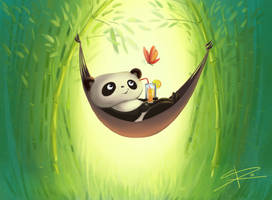 Relaxing Panda by Sabinerich