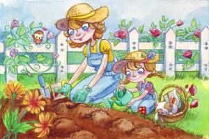 Gardening is fun by Sabinerich