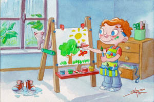 Painting a Sunny Day by Sabinerich