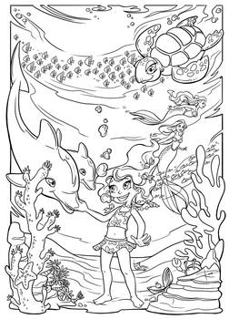 Underwater fun (coloring page)