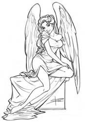 Angel sketch by Sabinerich