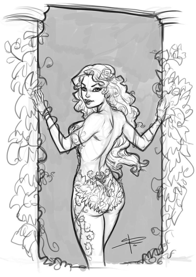 Poison Ivy sketch_pillars by Sabinerich