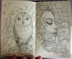 Moleskine sketch 2 by Sabinerich